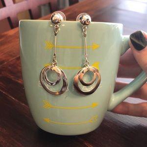 Nine West silver tone earrings